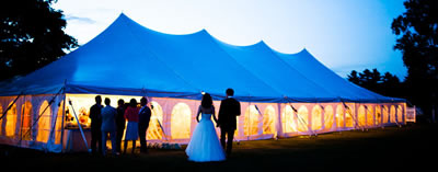 Wedding in a marquee tent